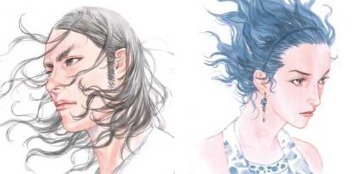 Kaim y Seth, dos de los personajes diseñados por el mangaka de culto