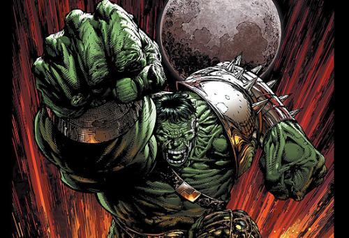 Hulk llega a la tierra en la World War Hulk