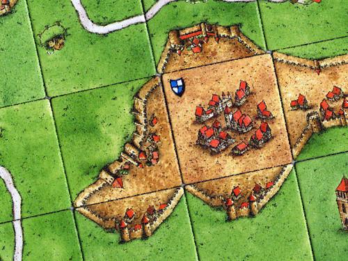 Carcassonne, detalle de piezas
