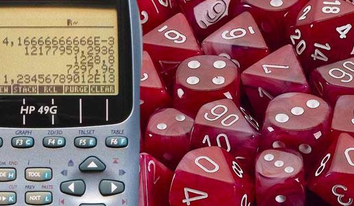 Dados y calculadora (Munchkins)
