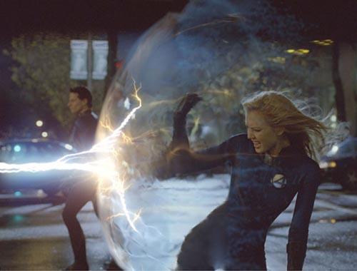 Jessica Alba en los Cuatro Fantásticos (Fantastic Four)