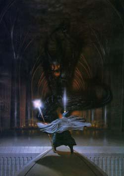 Gandalf en el Puente de Moria