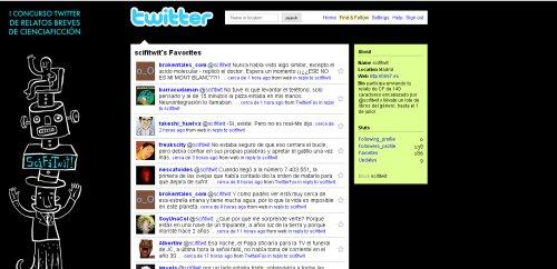 Sciftwit, literatura hiperbreve de ciencia ficción en twitter