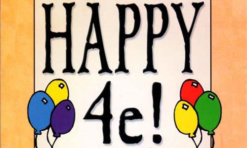 Happy 4E! Tarjeta de felicitación para jugarle en Munchkin