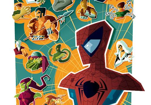 Spiderman por Tom Whalen