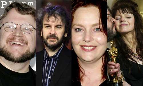 Guillermo del Toro, Peter Jackson, Philippa Boyens y Fran Walsh