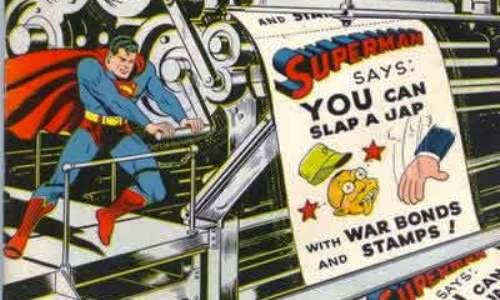 Superman dice que puedes pegar a un japonés