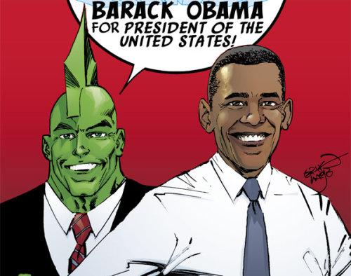 Savage Dragon apoya a Obama