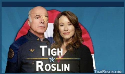 Tigh y Roslin para presidentes