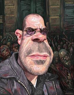 Retrato de Bob Fingerman realizado por Jeff Wong