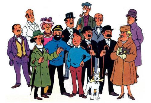 Tintin y sus amigotes