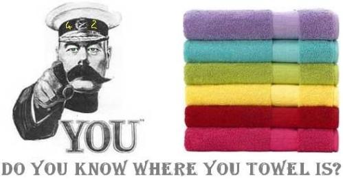 ¿Sabes donde está tu toalla?