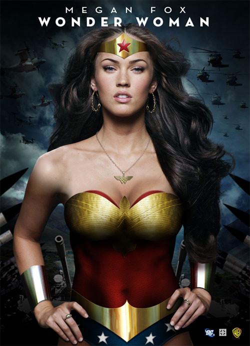 Megan Fox como Wonder Woman