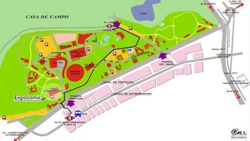 Mapa Expocomic