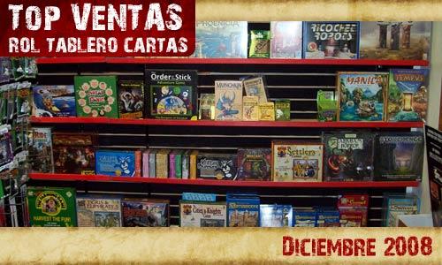 Lo mas vendido rol tablero y cartas Diciembre 2008