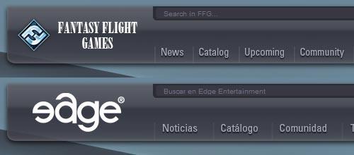Comparativa entre las webs de Fantasy Flight Games y de Edge Entertainment