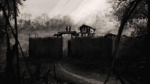Ilustracion de El Simio Verde, una de las aventuras de Shadows over Filmland