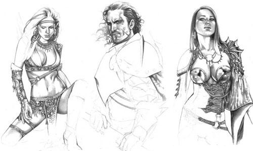 Bocetos para El Reino de la Sombra