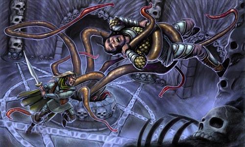 Portada de Mercenarios de Punjar, primera entrega de las Dungeon Aventuras de OkGames
