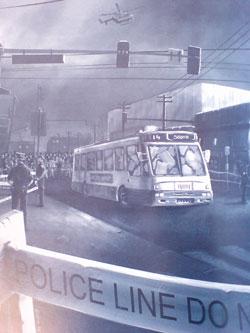 Mutant City Blues: Escena de un secuestro con rehenes