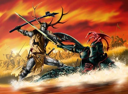 Robert Baratheon lucha contra Rhaegar Targaryen
