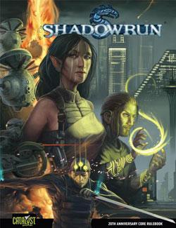 Portada de la edición especial 20 aniversario de la cuarta edición de Shadowrun