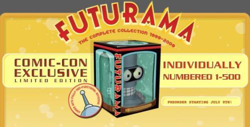 Pack de Futurama de la Comic Con