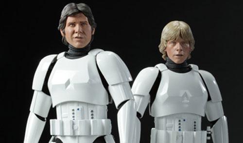 Luke y Hans disfrazados de Troopers