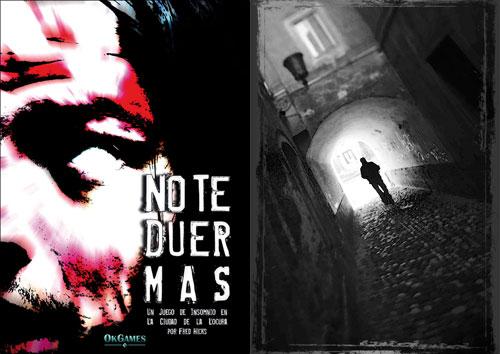 Portada e ilustraciones de No Te Duermas, de OkGames