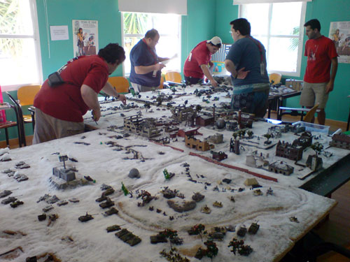 Escenario de la Segunda Guerra Mundial para wargames