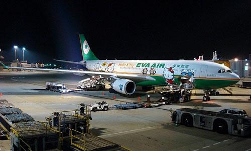 Uno de los Hello Kitty Airbus de EVA Airways
