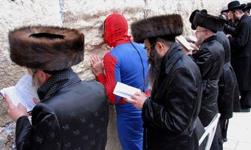 Spiderman en el Muro de las Lamentaciones