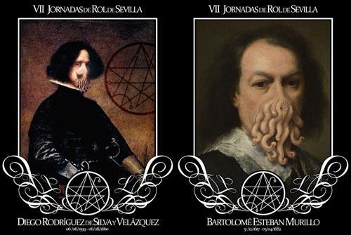 Velázquez y Murillo, al estilo Cthulhu