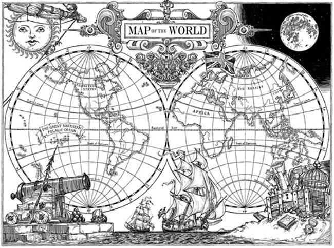 Nación, mapa del mundo alternativo