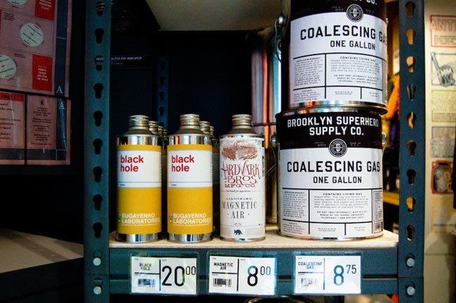 The Brooklyn Superhero Supply Company: productos a la venta