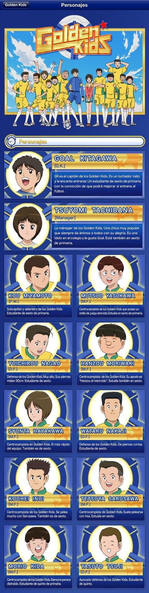 Golden Kids Yoichi Takahashi iPhone iPad personajes
