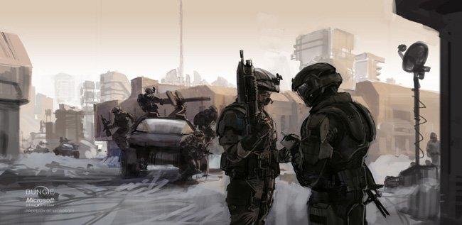 Halo Xbox ilustraciones bocetos Isaac Hannaford