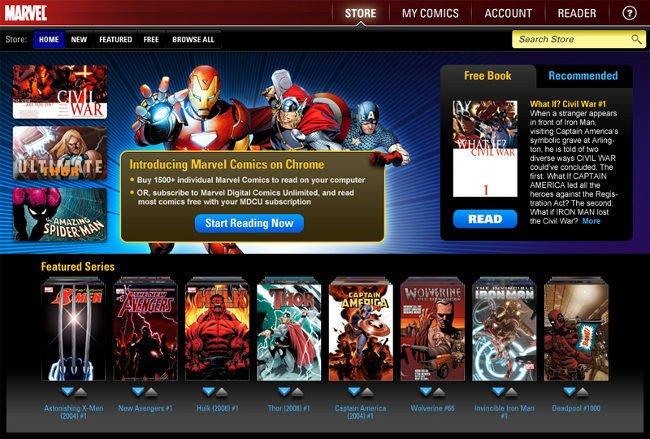 Marvel Comics Web Store