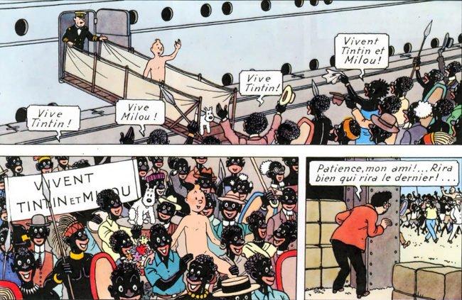 Tintin en pelotas en el Congo