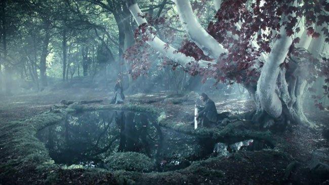 Eddard en el Bosque de los Dioses de Winterfell