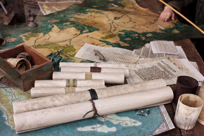 Mapas y pergaminos