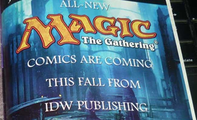Anuncio de los comics de Magic: The Gathering