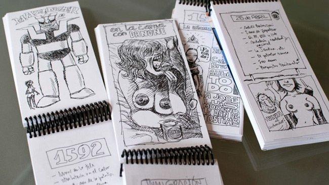 Reunión, bocetos de Manel Fontdevila