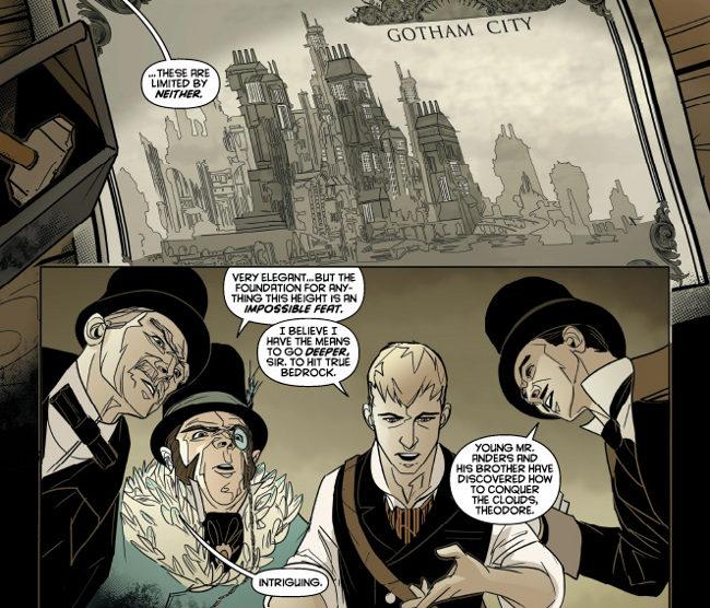 Alan Wayne y compañía en Puertas de Gotham