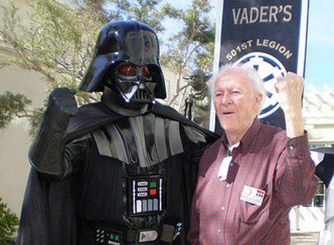 Ralph McQuarrie y Darth Vader