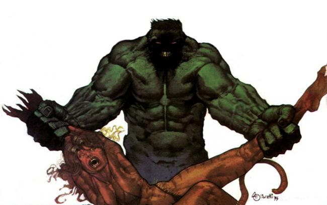 Los Vengadores Hulk Tigra Ariel Olivetti