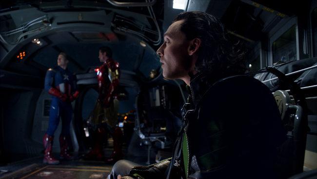 Los Vengadores - Loki, Capitan America y Iron Man