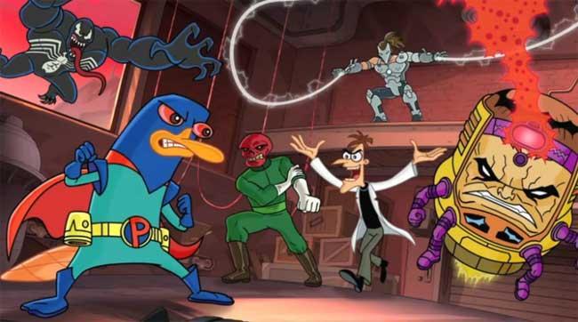 Perry contra Doofenshmirtz, Venom, Cráneo Rojo...