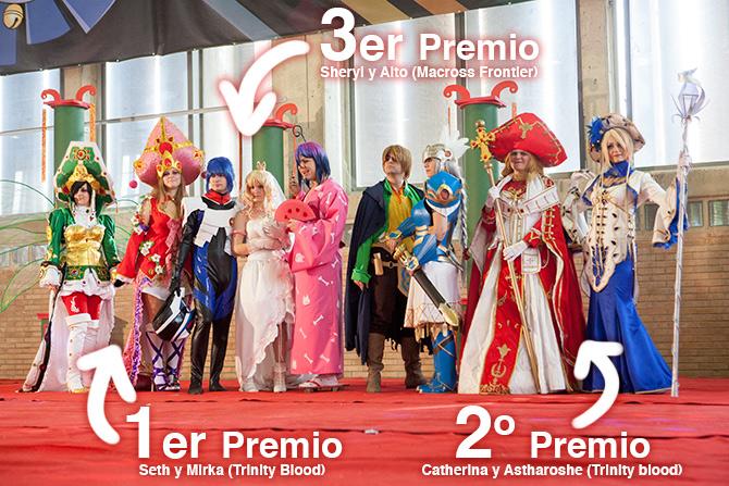 Merecidos ganadores del concurso clasificatorio para la final española del World Cosplay Summit del XIII Salón Manga de Jerez 2012