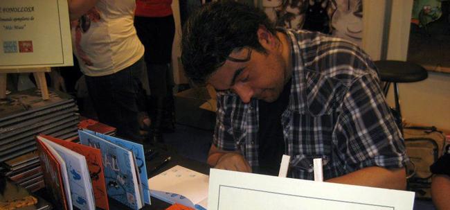 José Fonollosa, firmando su obra